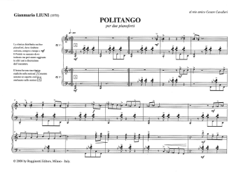 Gianmario Liuni - partiture - politango per due pianoforti